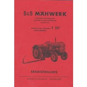 Porsche Stockey & Schmitz Mähwerk TM 20248 / 20238, Passend für Porsche Diesel T 217, Ersatzteilkatalog