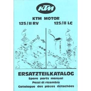 KTM Motorfahrzeugbau 125 / II RV / LC, Motor luft- oder wassergekühlt, Ersatzteilkatalog