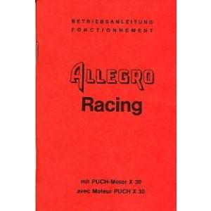 Puch Allegro Racing mit Puch X 30 Motor, Betriebsanleitung