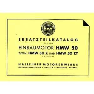 HMW Einbaumotor HMW 50, 50 Z und 50 ZT, Ersatzteilkatalog