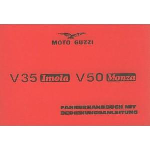 Moto Guzzi V 35 Imola, V 50 Monza, Betriebsanleitung