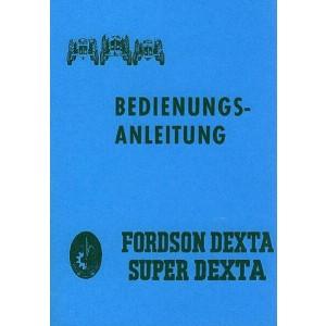 Fordson Dexta und Super Dexta Schlepper, Betriebsanleitung