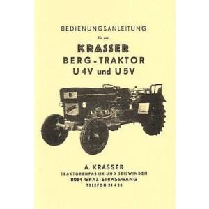 Krasser Bergtraktor U4V und U5V Betriebsanleitung und Ersatzteilkatalog