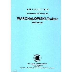 Warchalowski WT 20 Betriebsanleitung und Ersatzteilkatalog
