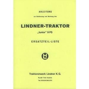 """Lindner """"Junior"""" , 9 PS, 500 ccm, 1 Zylinder, Zweitakt Diesel, wassergekühlt, Betriebsanleitung und Ersatzteilkatalog"""