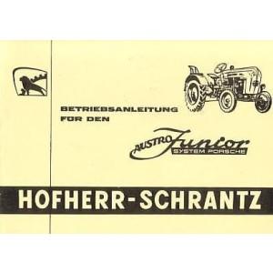 Hofherr-Schrantz, Austro Junior, Betriebsanleitung