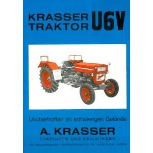 Krasser Bergtraktor U6V Betriebsanleitung und Ersatzteilkatalog