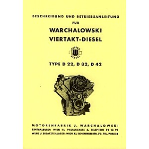 Warchalowski 4Takt-Diesel, Type D22, D32, D42, Betriebsanleitung