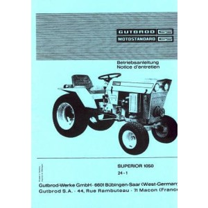 Gutbrod Superior 1050 Kleintraktor, Betriebsanleitung