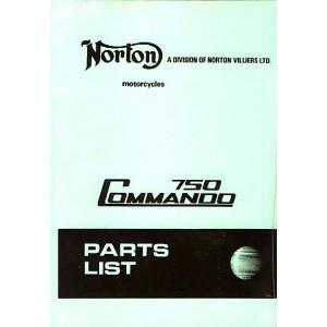 Norton Commando 750, Ersatzteilkatalog