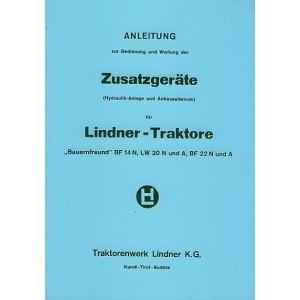 Lindner BF 14 N, LW 20 N und A, BF 22 N und A, Zusatzgeräte, Betriebsanleitung und Ersatzteilkatalog