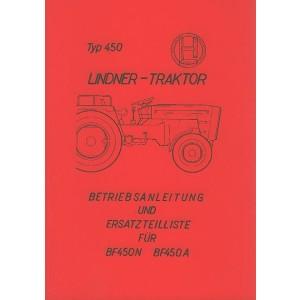 Lindner BF 450 N und BF 450 A – Betriebsanleitung und Ersatzteilkatalog