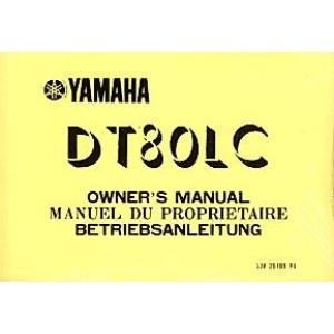 Yamaha DT 80 LC, Betriebsanleitung