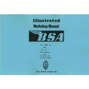 BSA C 10 L s.v., C 11 G & C 12 O.H.V., Ausgabe 3/1952, Reparaturanleitung