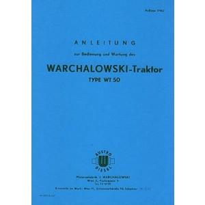 Warchalowski WT 50 Betriebsanleitung und Ersatzteilkatalog