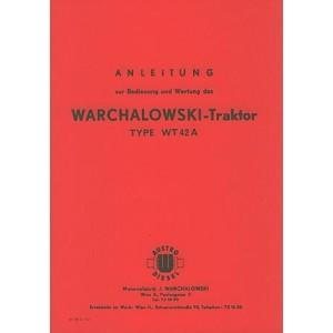 Warchalowski WT 42 A Betriebsanleitung und Ersatzteilkatalog