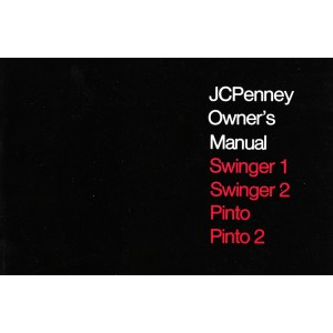 Puch Moped Kromag- JC Penney Swinger 1/ 2, Pinto and Pinto 2, Owners Manual