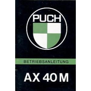 Puch AX 40 M (ähnlich wie Maxi) Betriebsanleitung