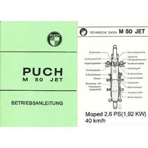 Puch M 50 Jet, 2,6 PS, Betriebsanleitung