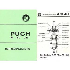 Puch M 50 Jet, 6,25 PS, Kleinkraftrad, Betriebsanleitung