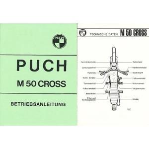 Puch M 50 Cross, Betriebsanleitung