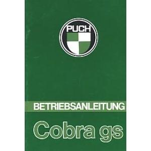 Puch Cobra GS, Betriebsanleitung