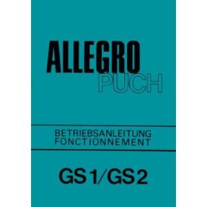 Puch Allegro GS 1 / GS 2, Betriebsanleitung, Fonctionnement