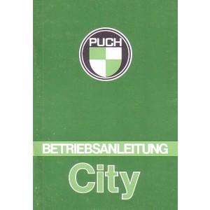 Puch City, Betriebsanleitung