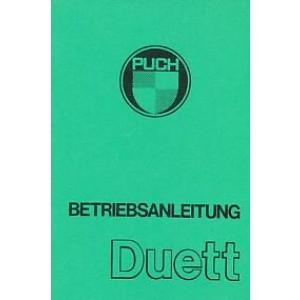 Puch Duett, Betriebsanleitung