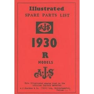 "AJS ""R"" Models 1930, Ersatzteilkatalog"