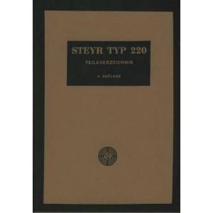 Steyr Typ 220 Ersatzteilkatalog
