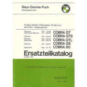Puch Cobra GT, GTS, GTL, GS, Cobra 80, Deutschland/Österreich Ersatzteilkatalog