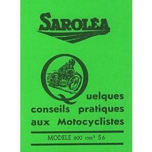 Sarolea S 6, 600 ccm, Betriebsanleitung