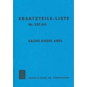 Sachs Diesel 600L Ersatzteile-Liste