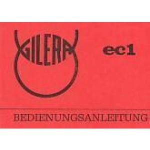 Gilera EC 1, Betriebsanleitung
