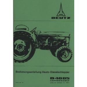 Deutz D 4005 Dieselschlepper luftgekühlt Betriebsanleitung