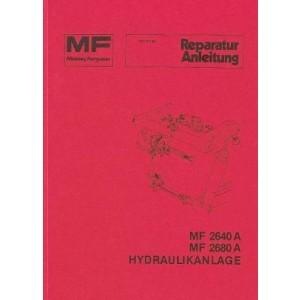 Massey-Ferguson MF 2640 A / 2680 A, Hydraulikanlage, Reparaturanleitung