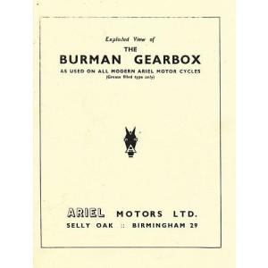 Burman Getriebe mit Kupplung für Ariel-Motorräder