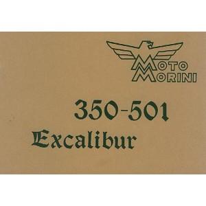 Moto Morini 350 - 501 Excalibur (Chopper), Istruzioni