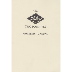 Riley Two-Point-Six, Workshop Manual