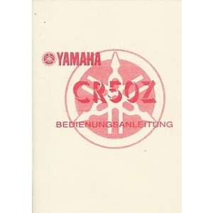Yamaha CR 50 Z, Betriebsanleitung