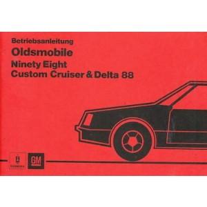 Oldsmobile Ninety Eight, Custom Cruiser & Delta 88, Betriebsanleitung