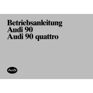 Audi 90 und 90 Quattro Betriebsanleitung