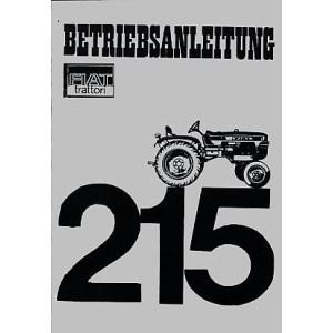 Fiat Traktor 215 Betriebsanleitung