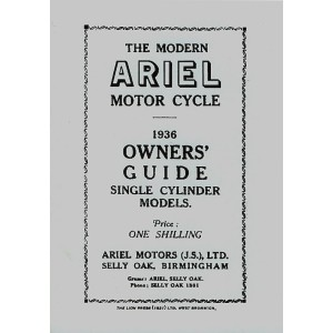 Ariel Motor Cycle Single Cylinder Models 1936 Owner's Guide