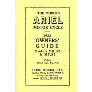 Ariel Motor Cycle MB32 & MF32 1932 Owner's Guide