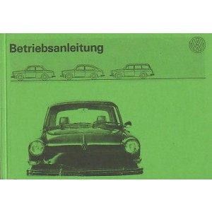 VW 1600 Variant, Betriebsanleitung