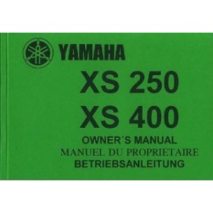 Yamaha XS 250, XS 400, Betriebsanleitung